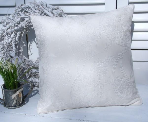 Kissenbezug ICE CREME 45x45 cm Allover Ornament Stickerei Edel Polyester