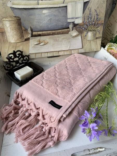 Handtuch DINA Rosa 50x70 cm Frottee Handtuch Fransen