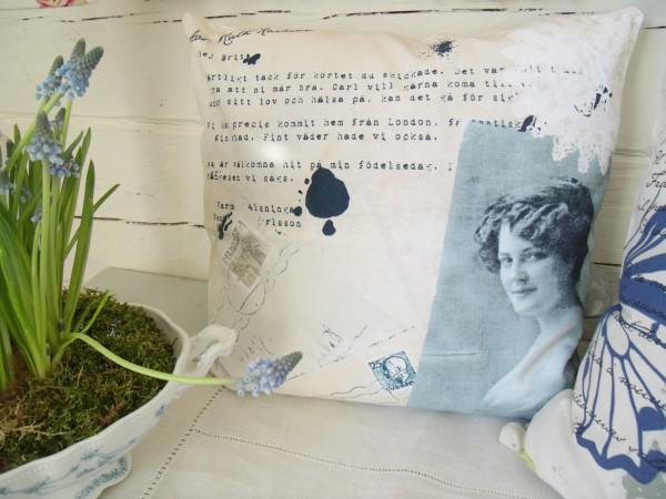 Kissenbezug Vintage YANISE Kissen Hülle 45x45 Sand, Beige Shabby Chic Baumwolle