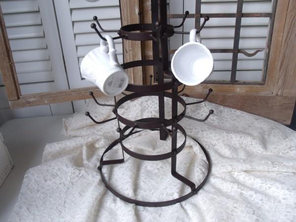 Tassenhalter CRYSTAL Kettenhalter Eisen Braun
