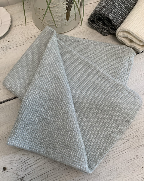 Geschirrtuch WILMA GRÜN MINT Trockentuch 50x70 Handtuch Waffelpique