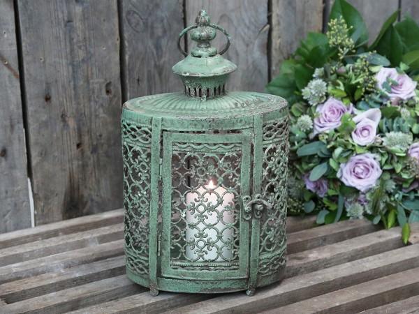 Kronleuchter Antik Ricardo ~ Laterne orient 32x19cm antik grün ornamente patina brocante