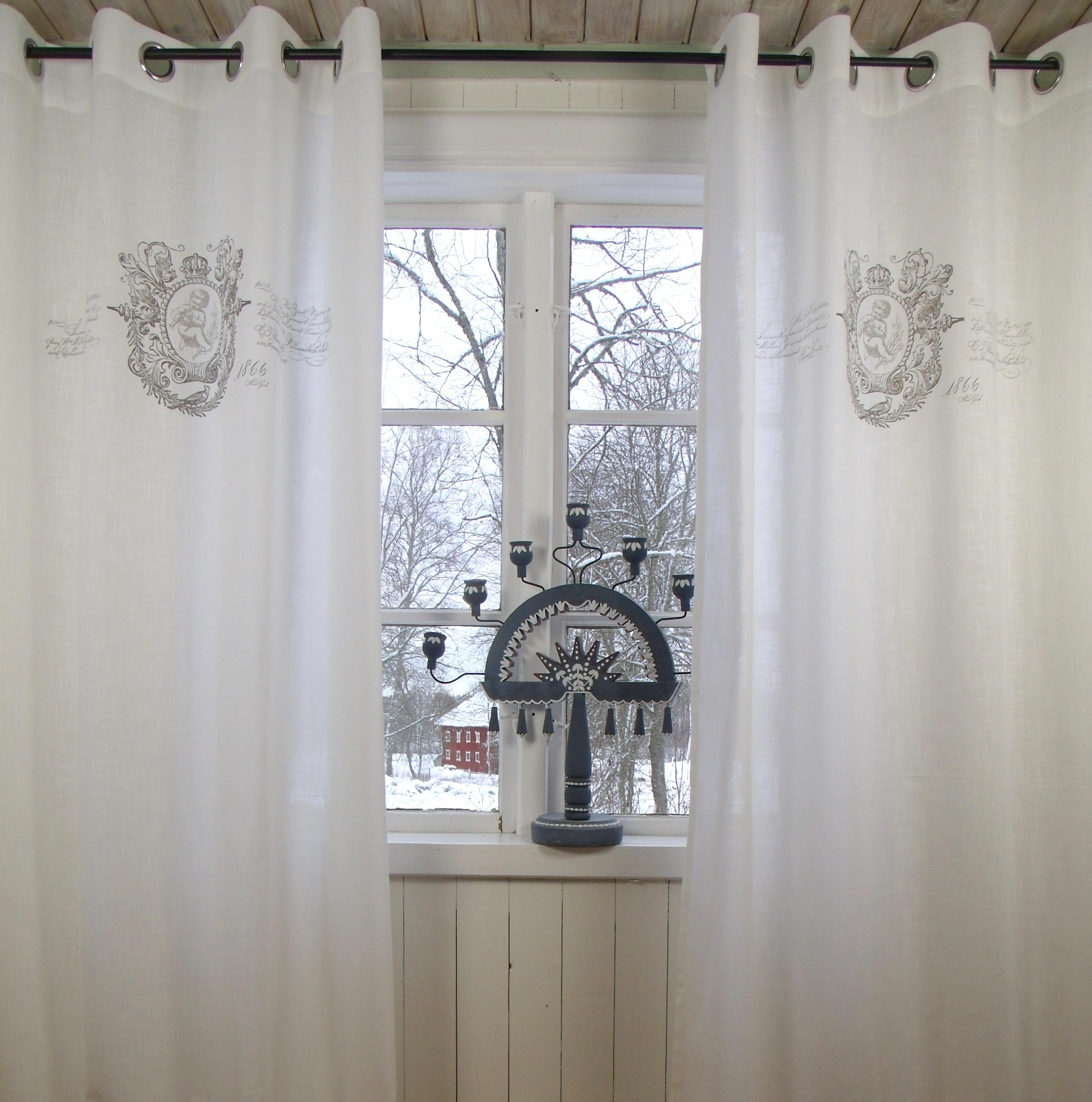 Vorhang JEANNE WEISS Ösen Gardine 120x240 cm 2 Stück