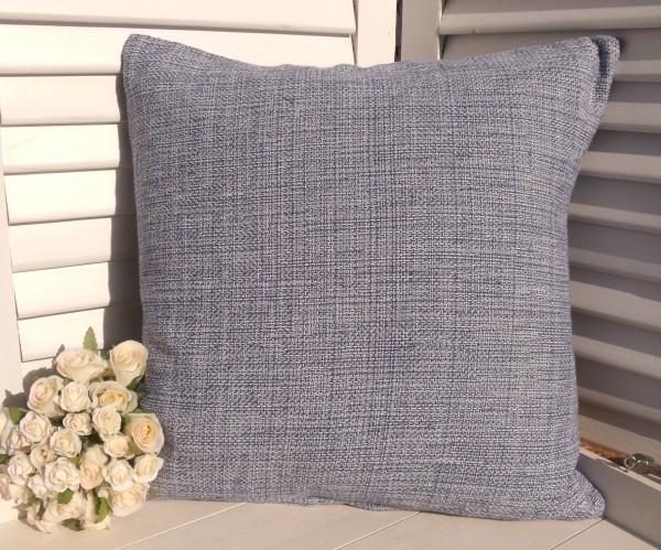 Kissenbezug NEYDA MARINE 45x45 cm meliert Baumwolle