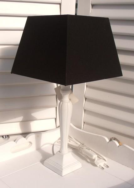 Tischleuchte Metall SCHWARZ-WEISS Designer Lampe E27
