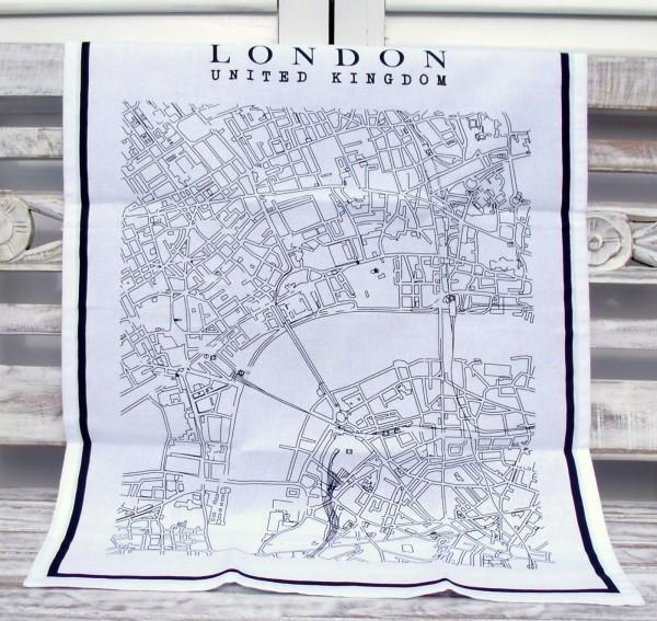 Geschirrtuch NEW YORK oder LONDON Trockentuch 50x70 cm