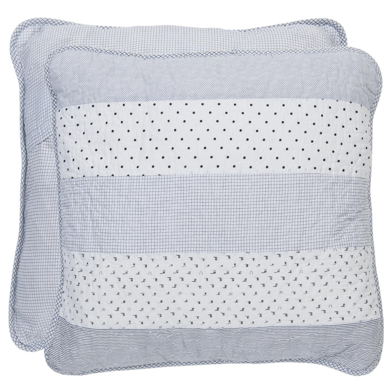 kissenbezug point black 40x40 cm wei grau blau punkte kissenbez ge kissen zauberhafter. Black Bedroom Furniture Sets. Home Design Ideas