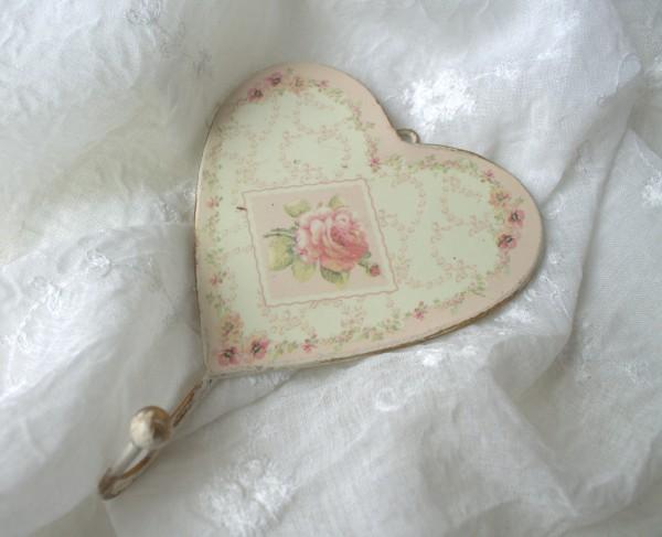 Handtuchhaken ROSALIE 2 Stück Handtuchhaken Kleiderhaken Rosa Creme