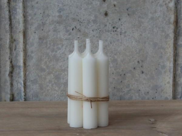 Kerzen Stabkerzen Perlmutt 10er Set ungebündelt 11x2cm
