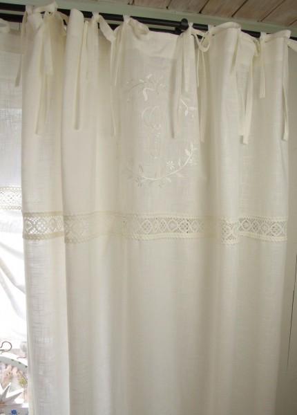 vorhang emilia offwhite gardine 140x250 cm 2 st ck gardinenschals vorh nge gardinen. Black Bedroom Furniture Sets. Home Design Ideas