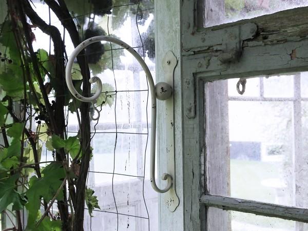Wandhaufhängung Metall 35x25cm creme Shabby Vintage Laternen Blumenampel