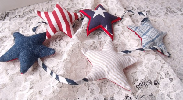 USA Stern Kinder Baby Girlande 100 cm