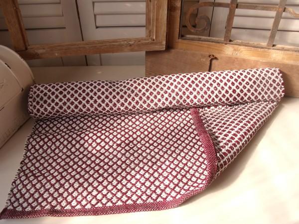PVC Outdoor Teppich Läufer PETZY WEINROT 70x180 cm Flickenteppich