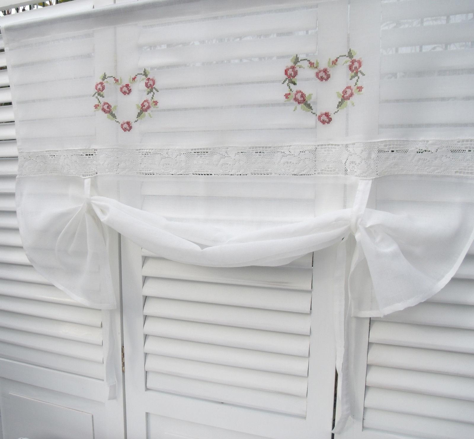 raff gardine heart rot rollo offwhite 100x80 cm raffgardinen rollos gardinen. Black Bedroom Furniture Sets. Home Design Ideas
