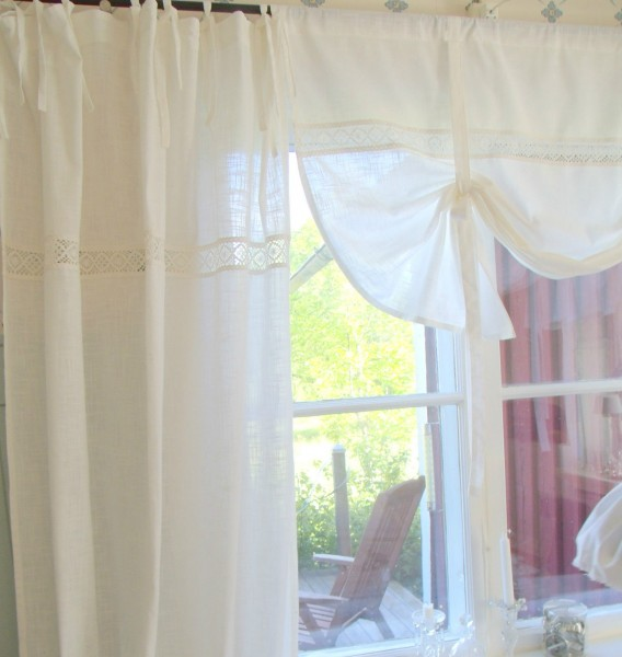 vorhang lina white gardine wei 120x240 cm 2 st ck. Black Bedroom Furniture Sets. Home Design Ideas