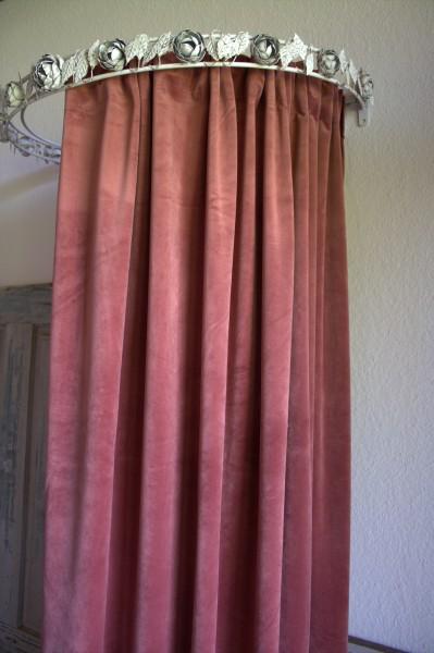 Vorhang GABRIELLA Samt MARSALA 140x280 cm 2 Stück Polyester Blickdicht