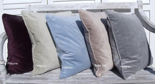 Kissenbezug GABRIELLA diverse Farben Hülle Samt 45x45 cm Polyester