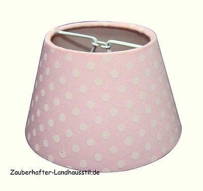 lampenschirm klemmschirm punkte rosa wei 11 7 11 lampenschirme lampen zauberhafter. Black Bedroom Furniture Sets. Home Design Ideas