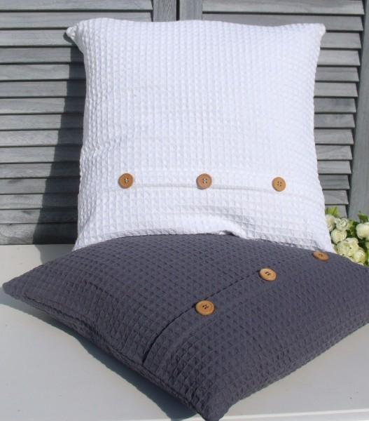 kissenbezug paddy wei 50x54 cm waffelpique kissenbez ge. Black Bedroom Furniture Sets. Home Design Ideas