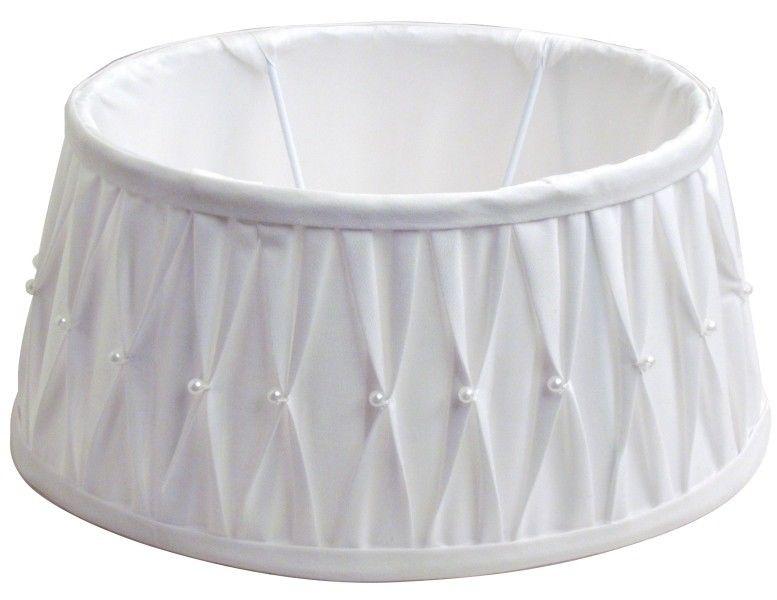 lampenschirm edel perlen stoff rund wei e27 20 15 13 lampenschirme lampen zauberhafter. Black Bedroom Furniture Sets. Home Design Ideas