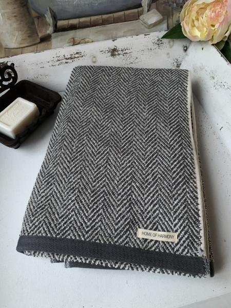 Handtuch ELLA Grau 50x70 cm Frottee Handtuch Baumwolle