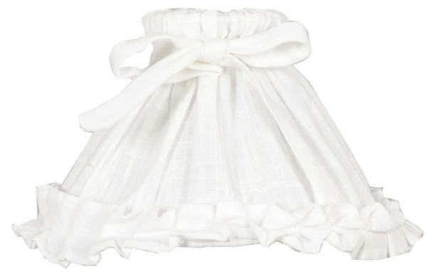 Lampenschirm Stoff WHITE Weiß Offwhite E27