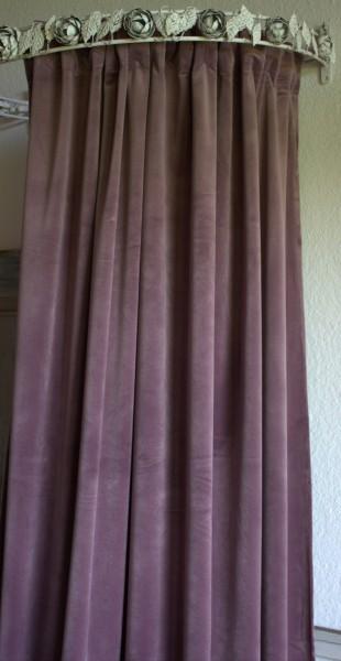 Vorhang GABRIELLA Samt FLIEDER 140x280 cm 2 Stück Polyester Blickdicht