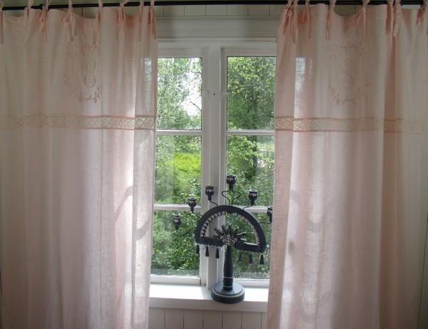 vorhang crystal lachs rosa gardine 120x240 cm 2 st ck gardinenschals vorh nge gardinen. Black Bedroom Furniture Sets. Home Design Ideas