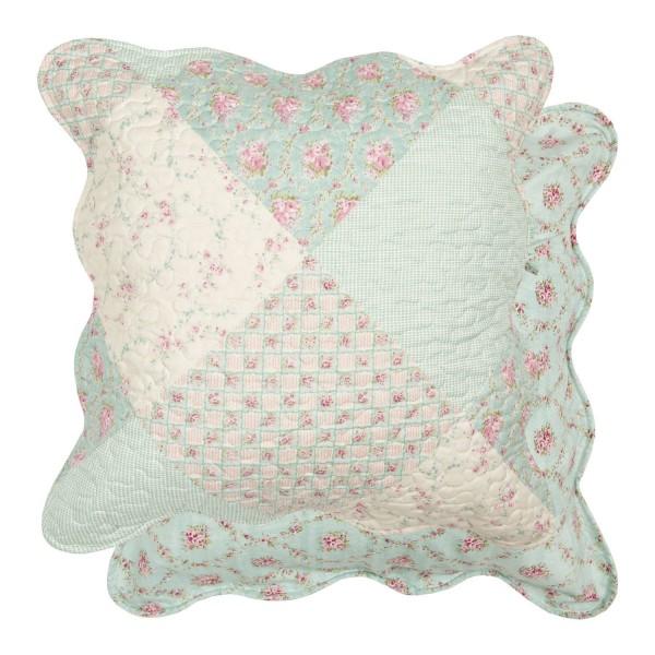 kissenbezug carina 40x40 cm oder 50x50 cm mint wei rosa kissenbez ge kissen zauberhafter. Black Bedroom Furniture Sets. Home Design Ideas