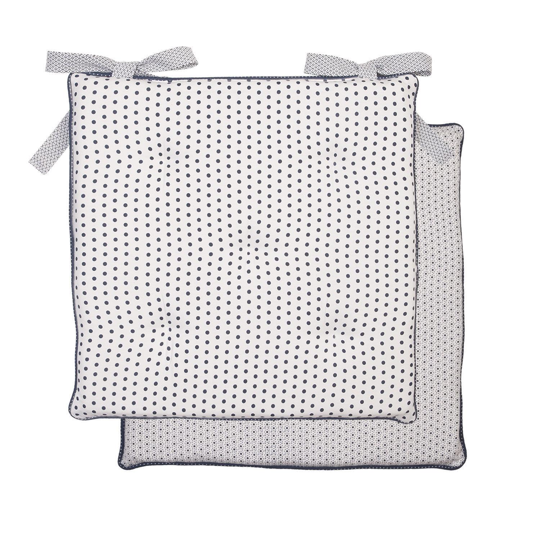 stuhlkissen luca blau wei stuhl garten 40x40 cm punkte matratzenkissen stuhlkissen kissen. Black Bedroom Furniture Sets. Home Design Ideas