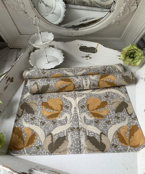 Tischläufer TALIA Safran 45 x 150 Baumwolle Landhaus