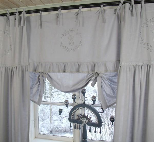 Raff gardine crystal ny grau 180x90 cm raffgardinen rollos gardinen zauberhafter - Raffgardinen landhausstil ...