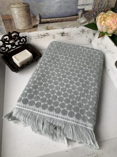 Bade Dusch Handtuch PEGGY Hell Grün 70x140 cm Frottee Handtuch Fransen