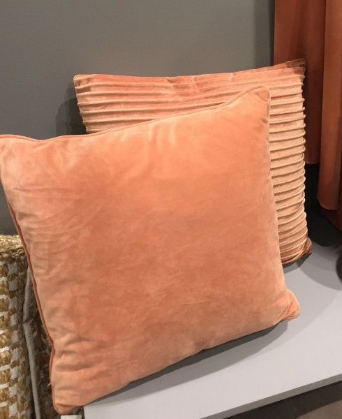 Kissenbezug GABRIELLA Samt Terracotta 45x45 cm Polyester