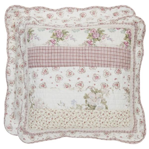 kissenbezug christine 50x50 cm rosa creme blumen floral kissenbez ge kissen zauberhafter. Black Bedroom Furniture Sets. Home Design Ideas