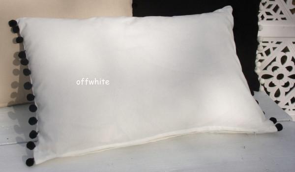 Kissenbezug GIULIA Offwhite 40x60 cm Landhaus Baumwolle