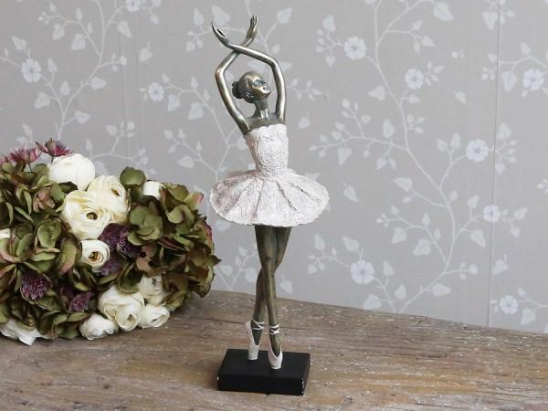Ballerina Tanzend Antique Gold Gewischt Alt Rosa H 41 cm Dekoration Landaus