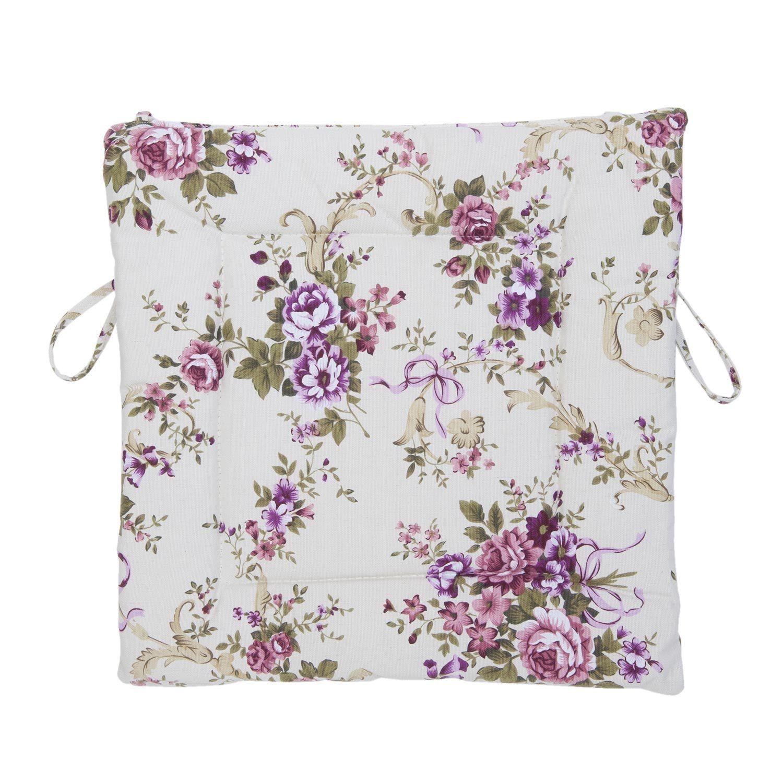 stuhlkissen rose lila lila bordeaux 40x40 cm blumen floral matratzenkissen stuhlkissen. Black Bedroom Furniture Sets. Home Design Ideas