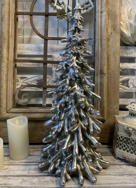 Deko Weihnachtsbaum Antique Silber TOULON Vintage Groß 54 cm