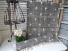 B-Ware Teppich Läufer USED Grau Creme Webteppich 70x200