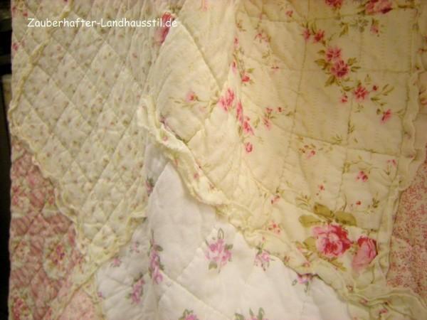 tagesdecke ronja 140x220 cm creme rosa tagesdecken sofa berw rfe decken zauberhafter. Black Bedroom Furniture Sets. Home Design Ideas