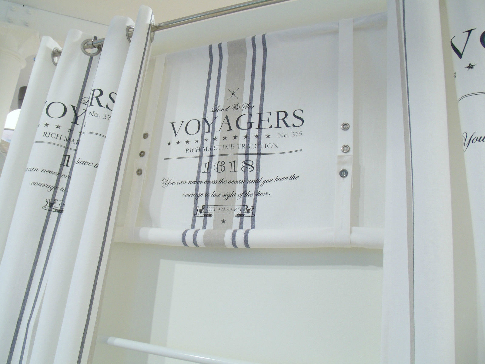 raff gardine ocean weiss rollo 160 x100 cm raffgardinen. Black Bedroom Furniture Sets. Home Design Ideas