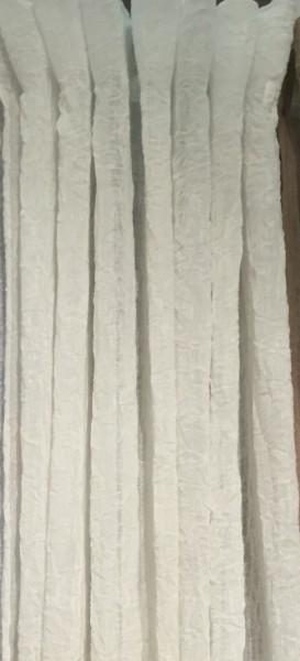 Vorhang LIA Offwhite Gardinen Schal 130x240 cm 2 Stück Loft Crincle KnitterStyle