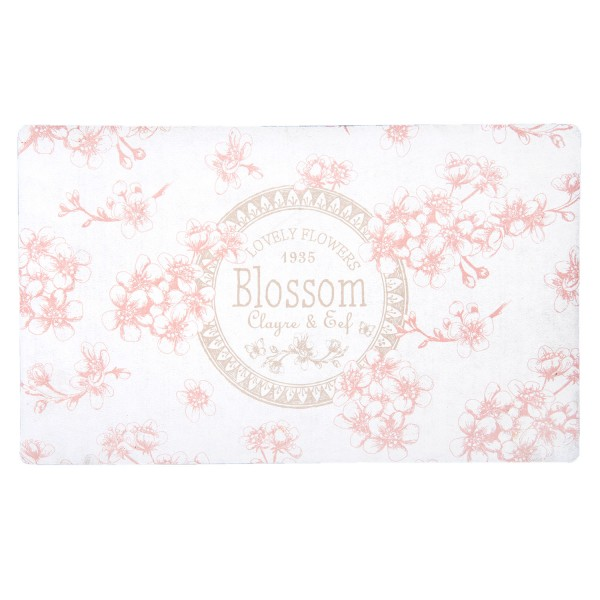 B Ware Türmatte Fußmatte ROSA FLOWER