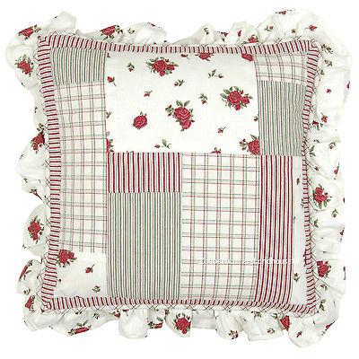 kissenbezug lotta rot 40x40 cm wei blumen floral einzelst ck kissenbez ge kissen. Black Bedroom Furniture Sets. Home Design Ideas