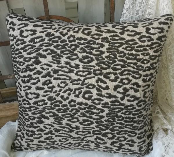 Kissen Bezug Hülle PANTHER 50 x 50 beige braun schwarz Animal Print