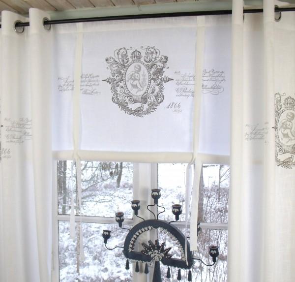 raff gardine jeanne weiss rollo 120x100 cm raffgardinen. Black Bedroom Furniture Sets. Home Design Ideas