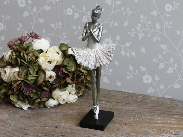 Ballerina Stehend Antique Gold Gewischt Alt Rosa H 36 cm Dekoration Landaus