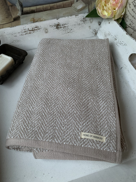 Handtuch ELLA Sand 50x70 cm Frottee Handtuch Baumwolle