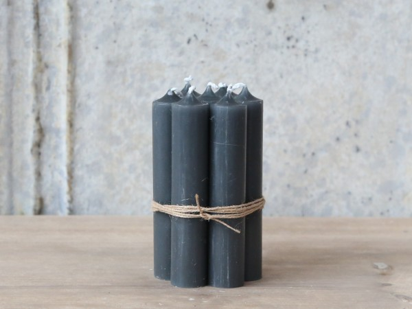 Kerzen Stabkerzen kohle 10er Set ungebündelt 11x2cm